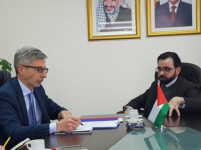 بسيسو وكوشار يبحثان تعزيز العلاقات الثقافية الفلسطينية الفرنسية