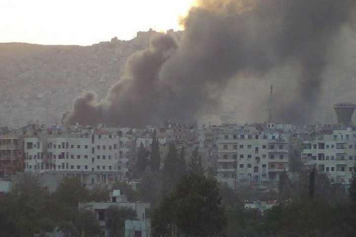 هجوم بالقذائف على حي توما في دمشق