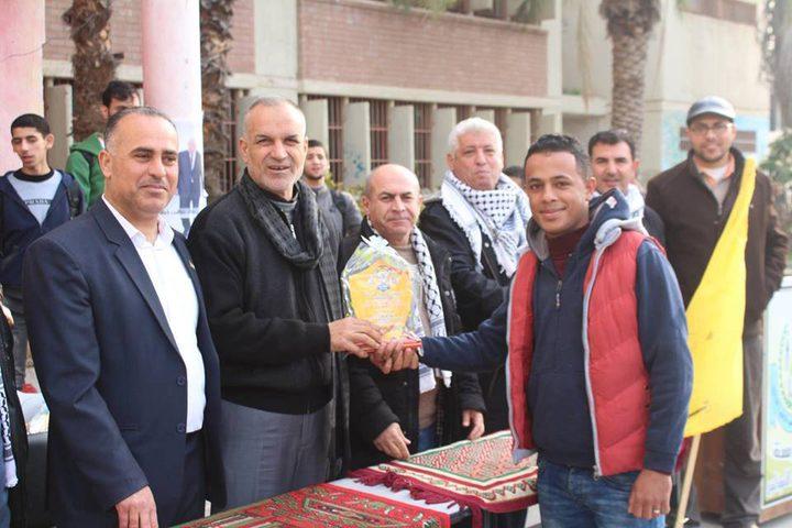 فتح إقليم شرق غزة تكرم طلبة مدرسة عبد الفتاح حمود الثانوية