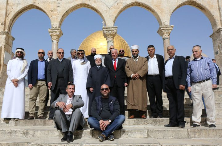 الحسيني والمفتي يستقبلان الوفود المشاركة باحتفالية القدس عاصمة للشباب الإسلامي لعام 2018
