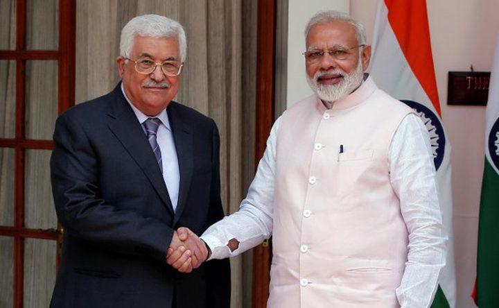 الرئيس يستقبل رئيس الوزراء الهندي في رام الله (محدث)