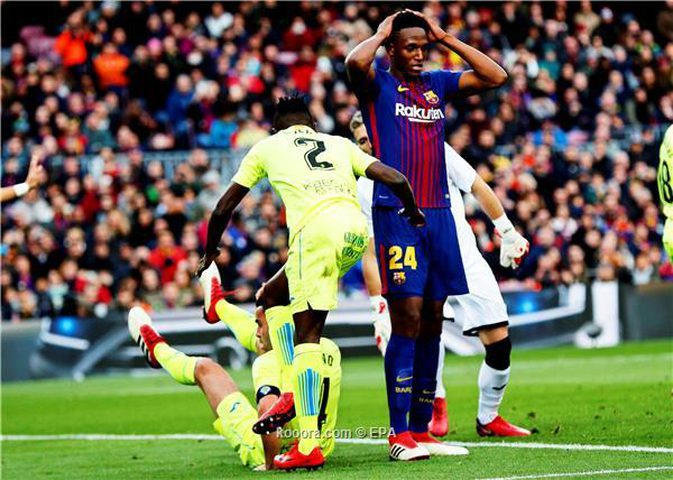 برشلونة يسقط في فخ التعادل السلبي أمام خيتافي