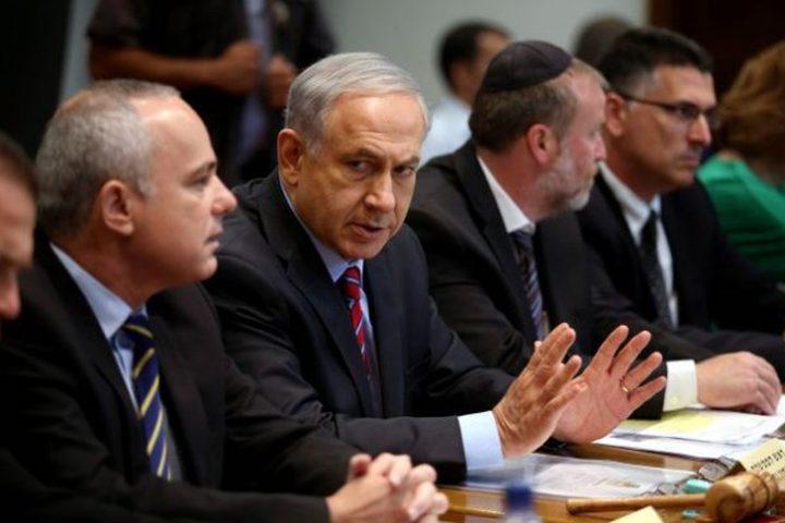 الكابينت يعقد اجتماعًا لبحث تطورات التصعيد العسكري مع سوريا