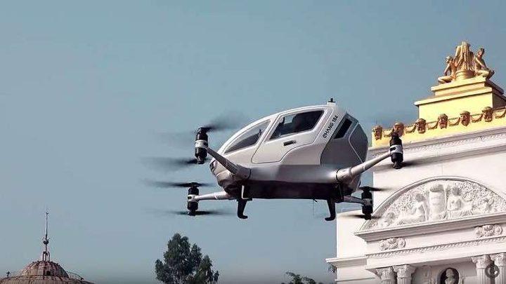 أول تاكسي طائر ذاتي القيادة في الصين (فيديو)
