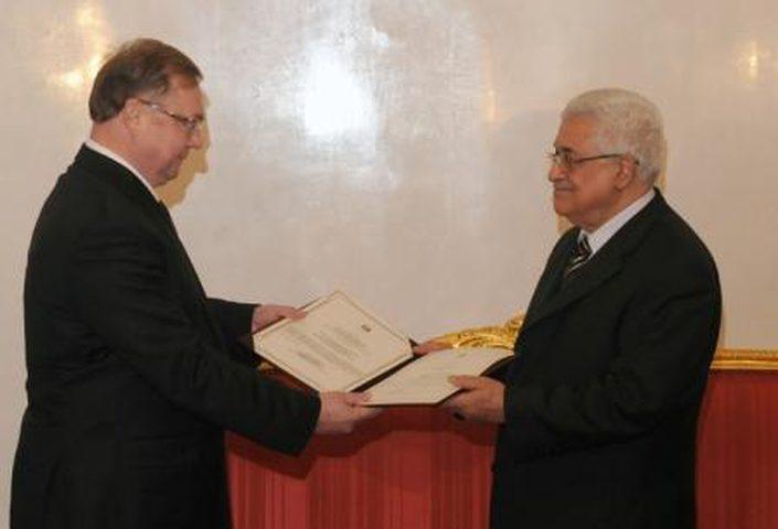 الرئيس يلتقي رئيس الجمعية الإمبراطورية الأرثوذكسية الفلسطينية