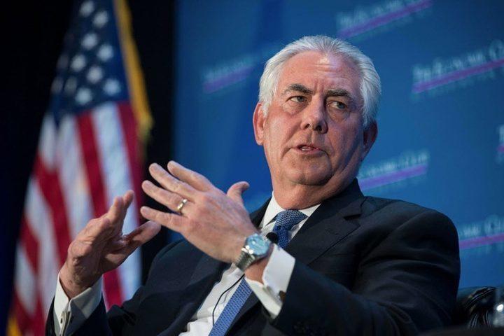 تليرسون يبحث تقدم خطة السلام الأمريكية في زيارة للشرق الأوسط