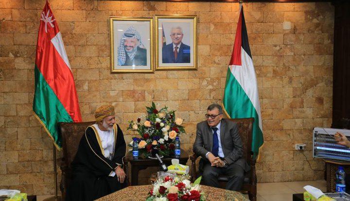 وزير خارجية سلطنة عُمان في زيارة رسمية إلى دولة فلسطين