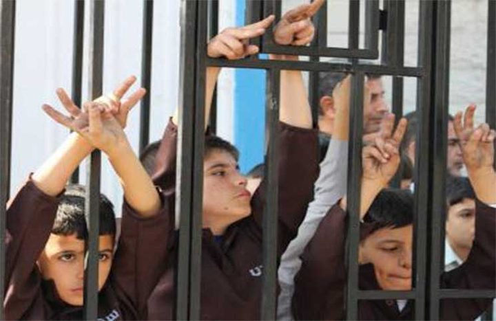 اعتصام تضامني مع القاصرين في سجون الاحتلال