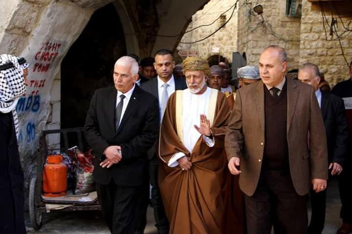 حميد يُطلع وزير خارجية سلطنة عُمان على أوضاع الخليل