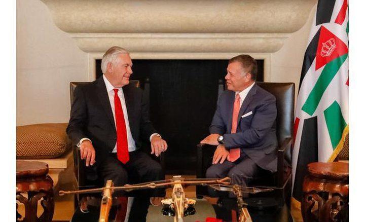 الملك عبدالله وتيلرسون يستعرضان أزمات الشرق الأوسط