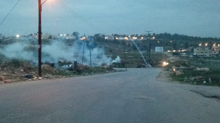 إصابات جراء قمع الاحتلال لمسيرة جنوب نابلس