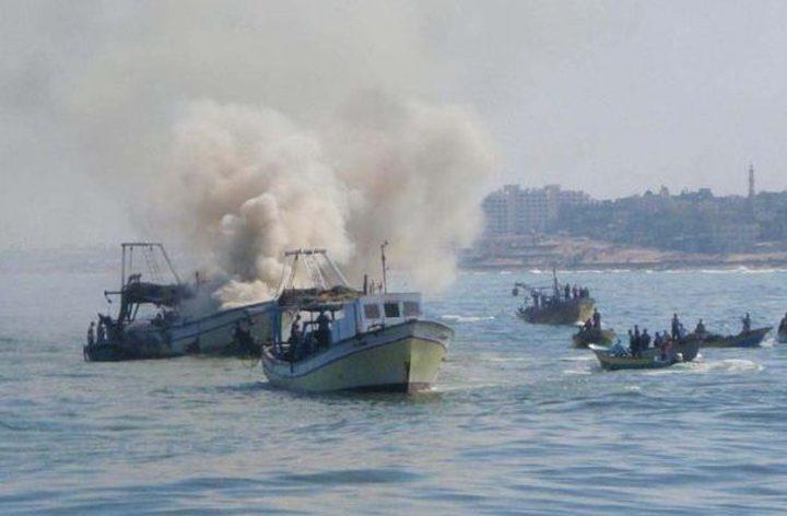 الاحتلال يطلق النار على مراكب الصيادين ببحر غزة