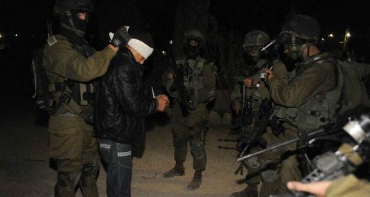 حملة اعتقالات طالت 19 مواطناً من مختلف مدن الضفة