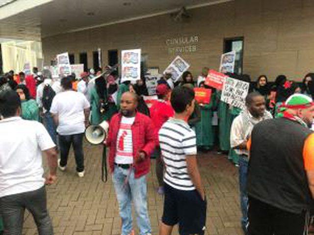 تظاهرة في جوهانسبورغ دعماً لفلسطين