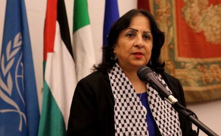السفيرة كيلة تبحث مع مسؤول إيطالي قضايا الوضع الفلسطيني