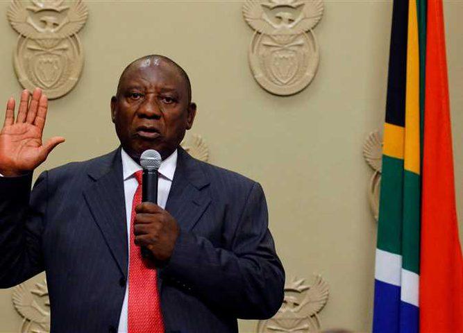 الرئيس يهنئ بانتخاب رئيس جنوب افريقيا