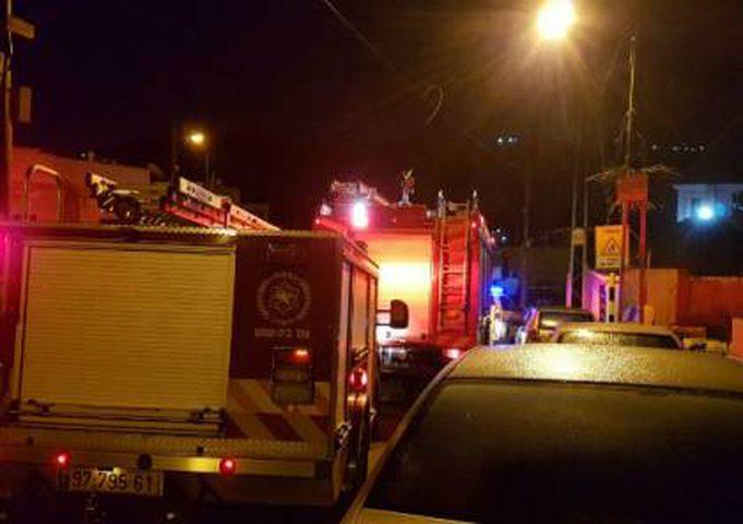 اصابة ثلاثة اطفال نتيجة حريق في بلدة اليامون