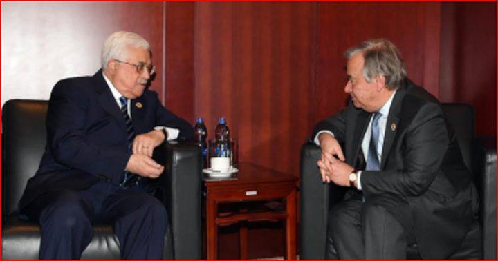 الرئيس يلتقي الأمين العام للأمم المتحدة