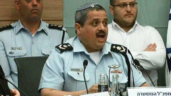 """جدل كبير داخل الكنيست ... وإنتقاد شديد لرئيس الشرطة الإسرائيلية """"روني الشيخ"""""""