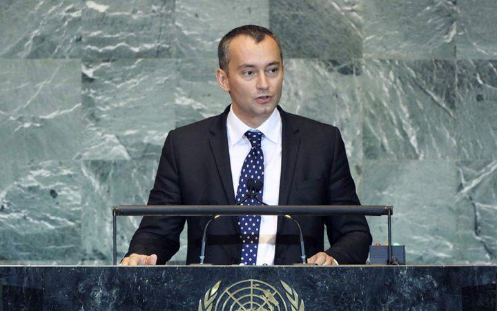ميلادينوف: أي فشل في عملية السلام له عواقب وخيمة ونُصّر على حل الدولتين وندين الاستيطان