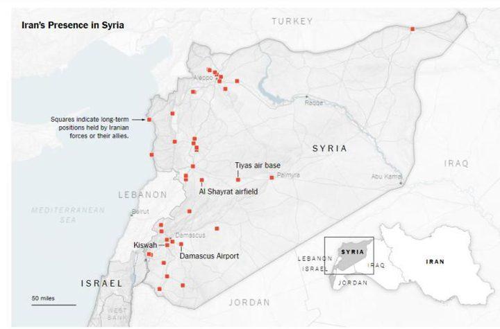 """""""خارطة إنتشار إيران في سوريا """" .... كابوس جديد يلاحق الكيان الإسرائيلي ."""