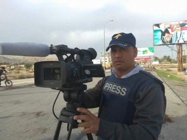 اصابة الصحفي أبو نعمة خلال تغطيته للمواجهات في أريحا