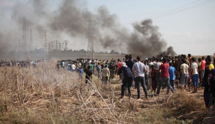 إصابات بالرصاص الحي في مواجهات مع الاحتلال على حدود غزة