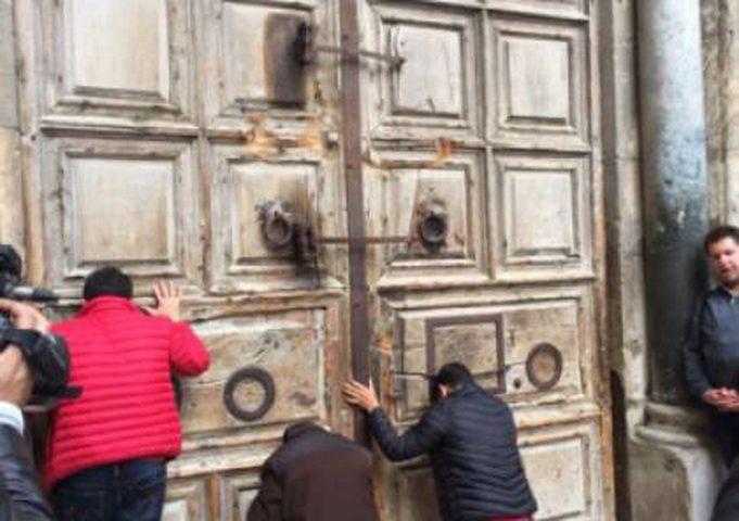 كنيسة القيامة مغلقة حتى إشعار آخر (فيديو)