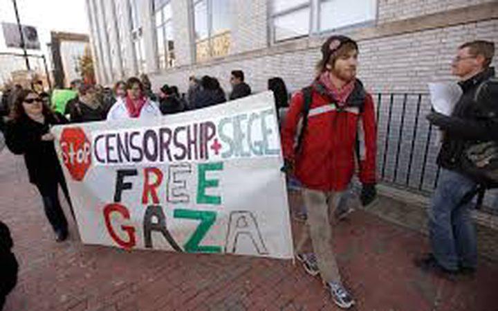 طلبة داعمين لفلسطين يوقفون محاضرة لجنود إسرائيليين في جامعة فرجينيا