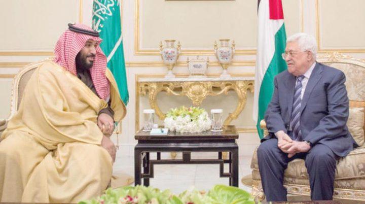 ولي العهد السعودي للرئيس: القضية الفلسطينية تحظى بأهمية خاصة لدى خادم الحرمين الشريفين