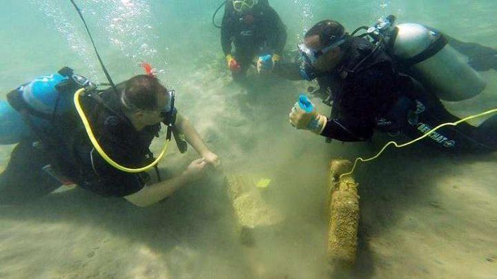 اكتشاف أنقاض ميناء غارق في البحر الأحمر