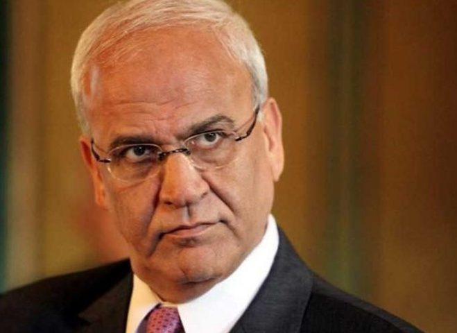 عريقات: مفتاح الأمن يبدأ بإنهاء الاحتلال