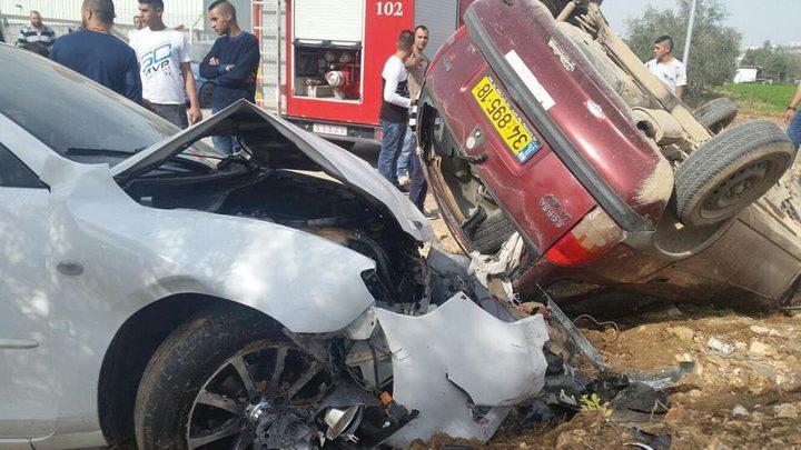 اصابات بينها خطيرة في حادث سير بقلقيلية