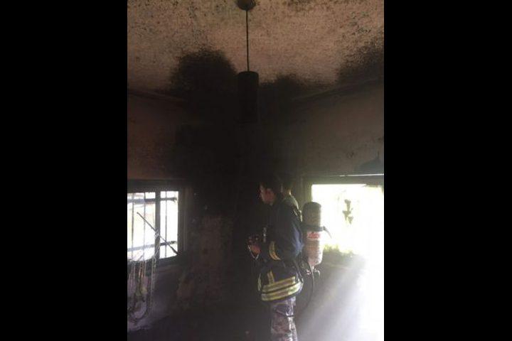 حريق في منزل غرب جنين