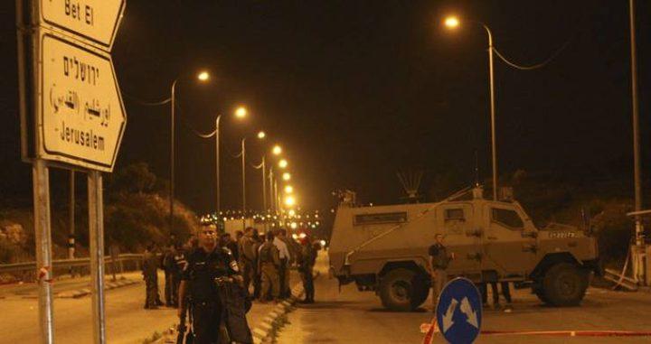 """قوات الاحتلال تنصب حاجزاً على مفرق بلدة """"جبع""""جنوب جنين"""