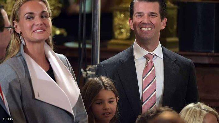 """رسمياً.. زوجة نجل ترامب """"تطلب الطلاق"""""""