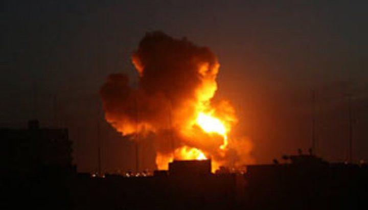 طيران الإحتلال الحربي يقصف أهداف متفرقة في قطاع غزة