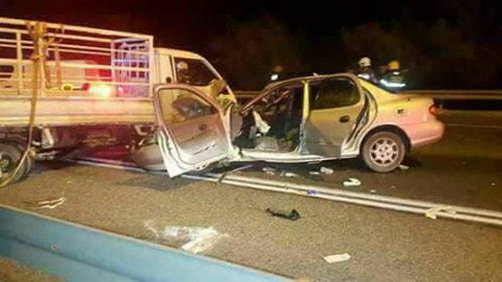 إصابة فلسطيني ومستوطنة بجراح خطيرة نتيجة حادث سير على طريق القدس اريحا