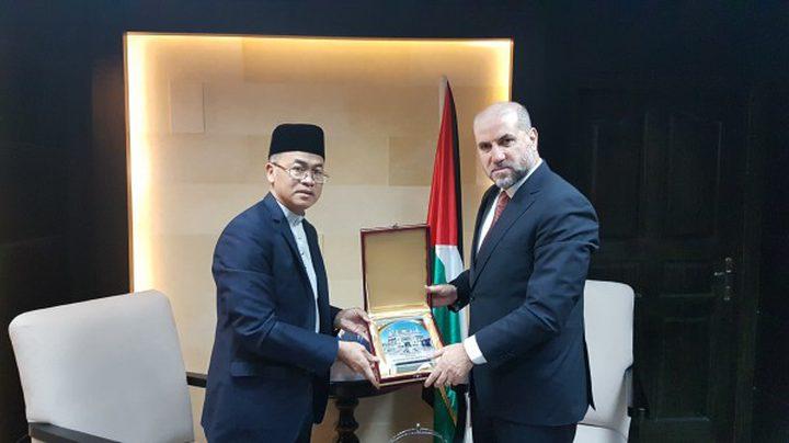 الهباش يستقبل سفير سلطنة بروناي