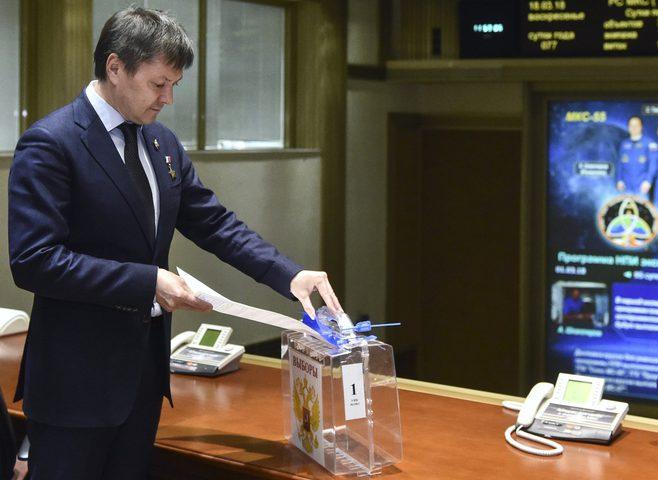نسبة التصويت في محطة الفضاء الدولية 100%
