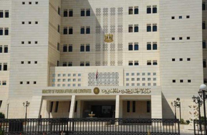 وزارة الخارجية: الاحتلال يستغل الموقف الامريكي لإستكمال عملية ضم الضفة المحتلة
