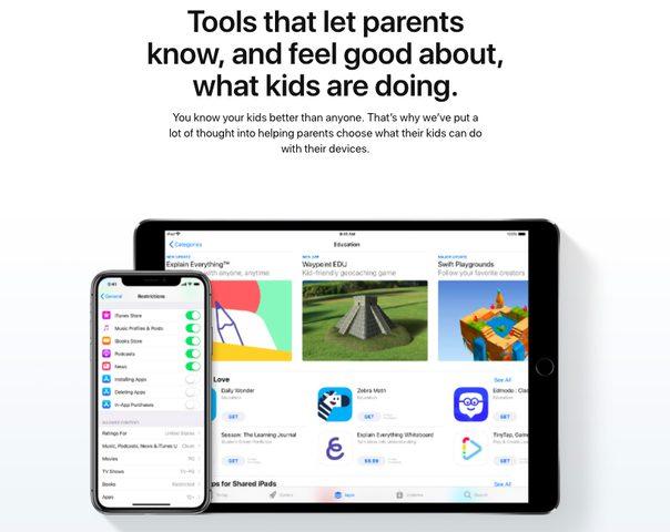 """آبل تطلق """"صفحة عائلية"""" للتحكم في استخدام الأطفال لمنتجاتها"""