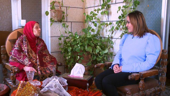السيدة منور صلاح تمثل المرأة الفلسطينية (فيديو)