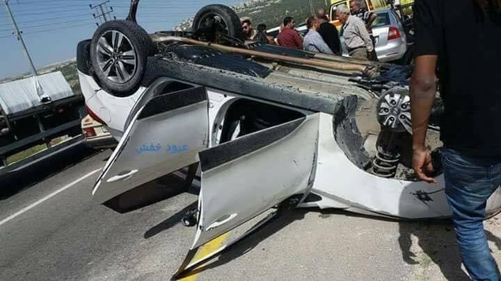 """إصابة """"مواطنة"""" بحادث سير في سلفيت"""