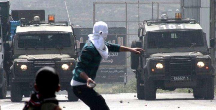 مواجهات مع الاحتلال في قرية النبي صالح