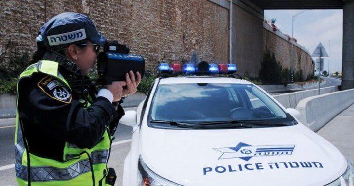 شرطة الاحتلال تشن حملة ضد المخالفات المرورية بالضفة