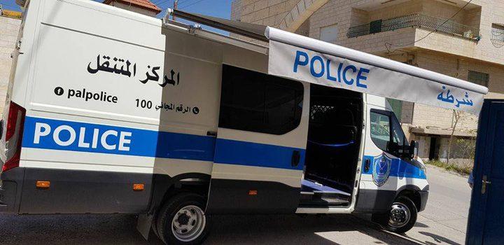 الشرطة تتسلم مركز شرطة مجتمعي متنقل في بيت لحم