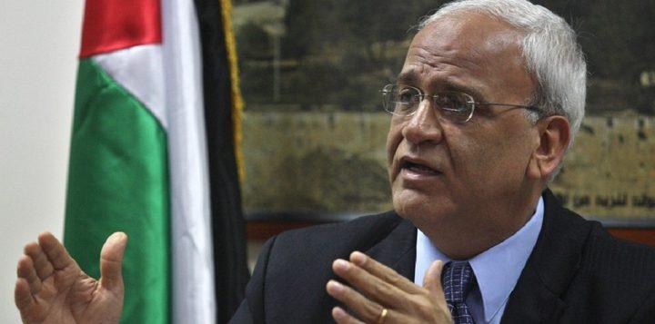 عريقات: الرئيس يبذل كل الجهود لاستعادة قطاع غزة