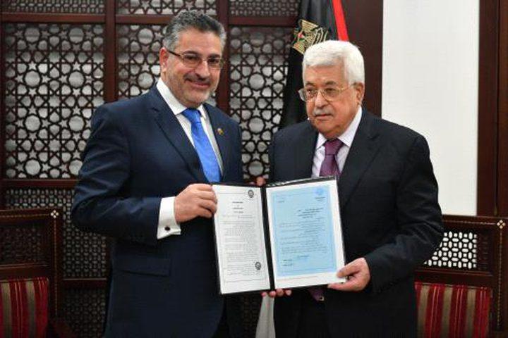 الرئيس يتسلم قرار اعتماد القدس عاصمة دائمة للتراث العربي