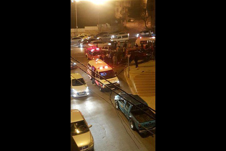 بالفيديو والصور: اصابات في حادث سير بمدينة نابلس